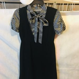 Style & Co. Houndstooth Black Dress Size Small